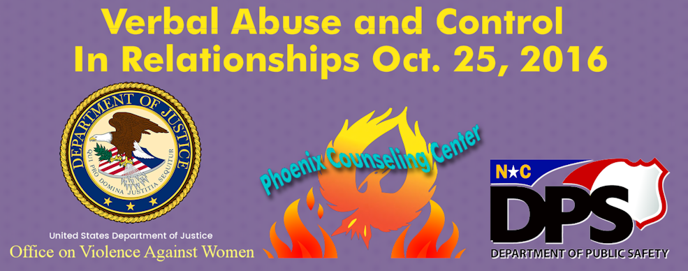 Verbal Abuse and Control In Relationships Oct. 25, 2016